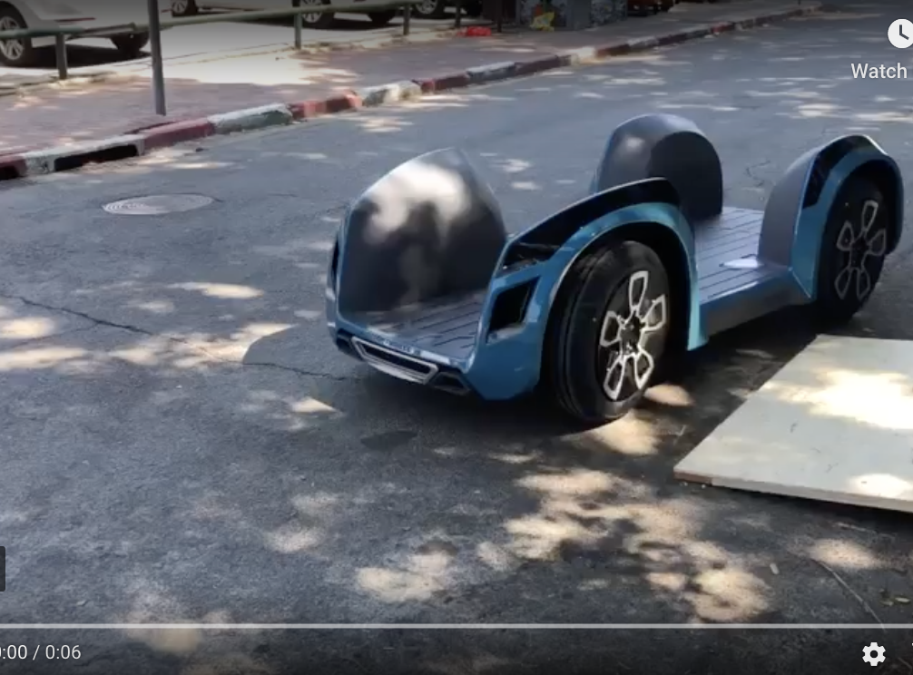 Israeli Startup ReImagines Automobile Design